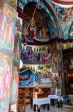 Интерьер греческого правоверного монастыря 12 апостолов в каперсах Стоковые Изображения