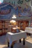 Интерьер греческого правоверного монастыря 12 апостолов Стоковые Фото