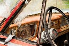 Интерьер грузового пикапа виллиса Junked Стоковые Фото