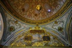 Интерьер дворца Топкапы в Стамбуле, Турции стоковые изображения rf