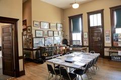 Интерьер депо и музея железной дороги, Джексон Теннесси Стоковое Изображение