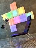 интерьер диско стула иллюстрация вектора