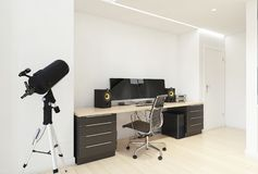 Интерьер домашнего офиса стоковые изображения rf