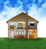 интерьер дома eco содружественный Стоковое Изображение