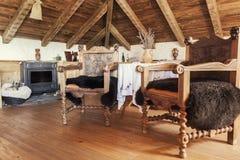 Интерьер деревенской комнаты в чердаке Стоковое Фото