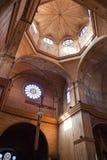 Интерьер деревянной церков на острове Chiloe. Стоковое Изображение