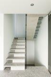 Интерьер, лестница гранита Стоковое Изображение