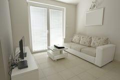 Интерьер живущей комнаты в пансионе Стоковые Фото