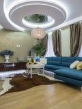 Интерьер живущей комнаты квартиры Стоковые Фото