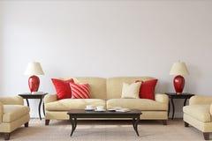 интерьер Жить-комнаты 3d представляют иллюстрация штока
