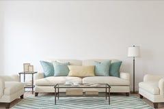 интерьер Жить-комнаты 3d представляют иллюстрация вектора