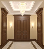 интерьер залы Стоковое Изображение