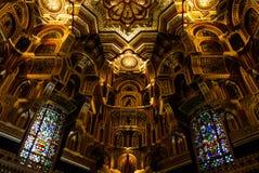 Интерьер замка Кардиффа – Уэльса, Великобритании Стоковые Фотографии RF