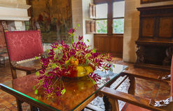 Интерьер замка Chenonceau Стоковые Фотографии RF
