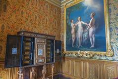 Интерьер замка Chenonceau Стоковая Фотография RF