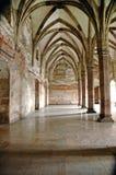 Интерьер замка Corvinesti, Hunedoara, Румынии стоковое изображение