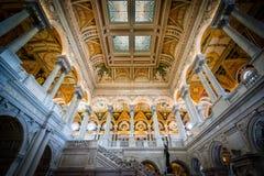 Интерьер здания Томас Джефферсон библиотеки  Стоковые Фото