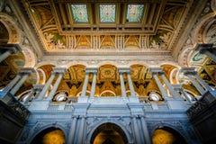 Интерьер здания Томас Джефферсон библиотеки  Стоковое фото RF