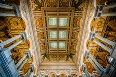Интерьер здания Томас Джефферсон библиотеки  Стоковые Фотографии RF
