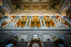 Интерьер здания Томас Джефферсон библиотеки  Стоковые Изображения