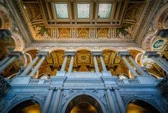 Интерьер здания Томас Джефферсон библиотеки  Стоковое Изображение RF