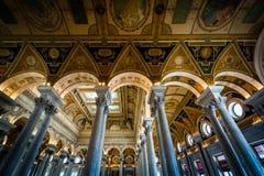 Интерьер здания Томас Джефферсон библиотеки  Стоковая Фотография RF