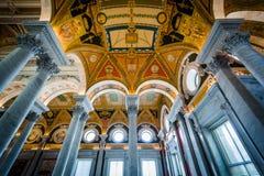 Интерьер здания Томас Джефферсон библиотеки  Стоковое Фото