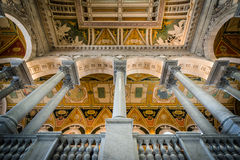 Интерьер здания Томас Джефферсон библиотеки  Стоковое Изображение