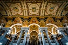 Интерьер здания Томас Джефферсон библиотеки  Стоковая Фотография
