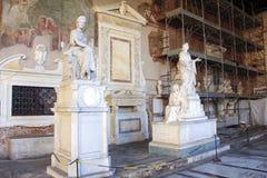 Интерьер здания Camposanto в Пизе Италии Стоковое Фото