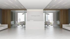 Интерьер иллюстрации приема и конференц-зала 3D бесплатная иллюстрация