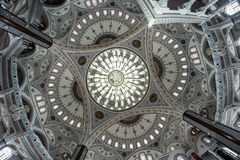 Интерьер исламского религиозного виска Стоковые Фотографии RF