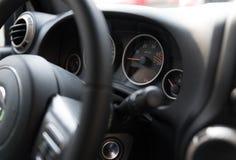 Интерьер и приборная панель автомобиля Стоковое Изображение