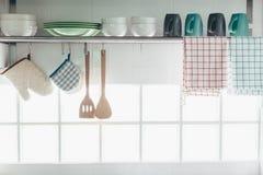 Интерьер и утвари кухни стоковая фотография rf