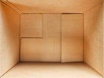 Интерьер картонной коробки Стоковые Фото