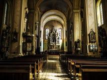 интерьер католической церкви Стоковое фото RF