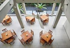 Интерьер кафа гостиницы стоковое изображение rf