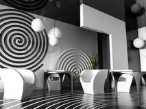 интерьер кафа Стоковое Изображение