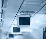 Интерьер коммерчески воздушных судн стоковое фото