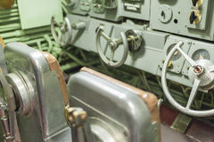 Интерьер комнаты и Attac подводной лодки Growler USS центральных Стоковые Фотографии RF