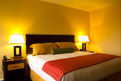 Интерьер комнаты кровати Стоковое Фото