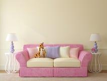 Интерьер комнаты малыша. Стоковое Изображение