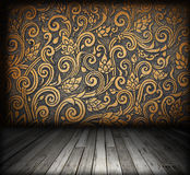 Интерьер комнаты - пол сбора винограда деревянный Стоковые Изображения RF