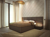 Интерьер комнаты роскошной гостиницы Стоковая Фотография RF