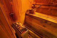 Интерьер комнаты сауны Стоковые Изображения