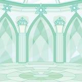 Интерьер комнаты трона ферзя снега иллюстрация штока