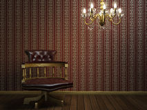 интерьер конструкции кресла классицистический Стоковое Изображение RF