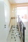 Интерьер коридора больницы без больных Стоковое Изображение