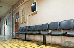 Интерьер коридора в старой больнице города CityBalashikha, Стоковое Изображение RF