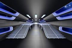 Интерьер космической станции Стоковое Изображение